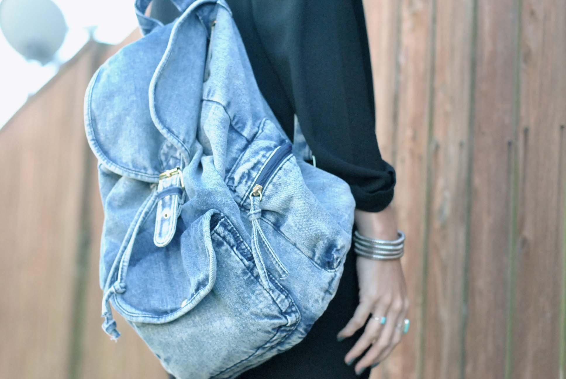 sac à dos en jean